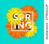 bright spring background design.... | Shutterstock .eps vector #379810129