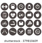fitness icons. vector