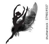 vector watercolor ballerina in... | Shutterstock .eps vector #379819537
