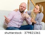 man has problem  young woman... | Shutterstock . vector #379821361