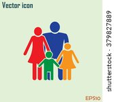 happy family icon in simple... | Shutterstock .eps vector #379827889