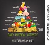 mediterranean diet image | Shutterstock .eps vector #379828501