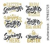 easter typographical lettering... | Shutterstock .eps vector #379832725