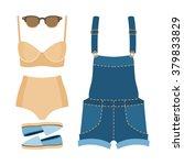 set of trendy women's clothes.... | Shutterstock .eps vector #379833829