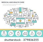 medical and health care concept ... | Shutterstock .eps vector #379836355