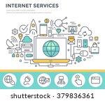 internet service concept... | Shutterstock .eps vector #379836361