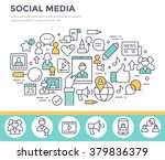 social media  communication... | Shutterstock .eps vector #379836379