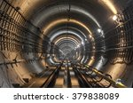 the subway tunnel. focus on the ... | Shutterstock . vector #379838089
