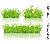 grass set  vector | Shutterstock . vector #379840354