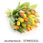 Bouquet Of Yellow And Red Fres...