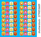 orange game icons buttons icons ...