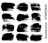 abstract big black strokes... | Shutterstock .eps vector #379853854