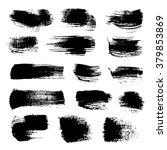 abstract black strokes of... | Shutterstock .eps vector #379853869