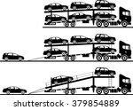 set of silhouettes car auto... | Shutterstock .eps vector #379854889