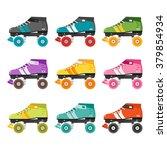 vector set of quad roller... | Shutterstock .eps vector #379854934