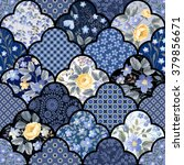 seamless floral patchwork... | Shutterstock .eps vector #379856671
