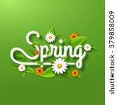 fresh spring background poster... | Shutterstock .eps vector #379858009