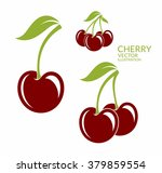 cherry. isolated berries on...