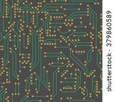 neutral hi tech vector seamless ... | Shutterstock .eps vector #379860589