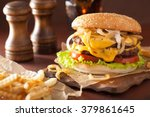 Double cheeseburger with tomato ...
