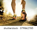 close up feet with running... | Shutterstock . vector #379862785