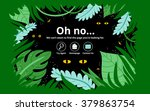 jungle 404 error page  vector... | Shutterstock .eps vector #379863754