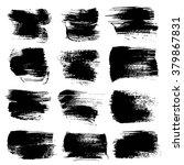 abstract big black strokes set... | Shutterstock .eps vector #379867831