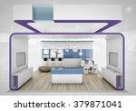 violet exhibition stand 3d... | Shutterstock . vector #379871041