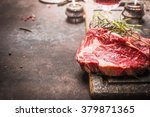 close up of raw fresh meat... | Shutterstock . vector #379871365