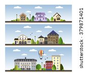 city cartoon style   Shutterstock .eps vector #379871401