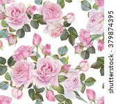 floral seamless pattern with... | Shutterstock . vector #379874395