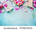 spa or wellness setting with... | Shutterstock . vector #379874524