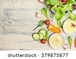 fresh organic green salad... | Shutterstock . vector #379875877