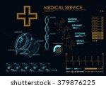 hud ui for medicine app.... | Shutterstock .eps vector #379876225