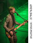 Small photo of Amsterdam, The Netherlands - 21 february, 2016: concert of English psychedelic rock band Kula Shaker for their album release K 2.0 at Paradiso concert hall