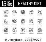 healthy diet icons  healthy... | Shutterstock .eps vector #379879027