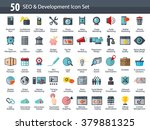 set of seo and development... | Shutterstock .eps vector #379881325