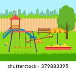 kids playground. buildings for... | Shutterstock .eps vector #379883395
