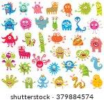 set of funny little monsters....   Shutterstock .eps vector #379884574