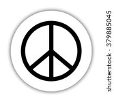 peace sign    black vector icon | Shutterstock .eps vector #379885045