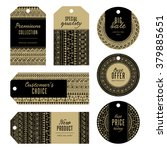 set of gold and black bohemian...   Shutterstock .eps vector #379885651