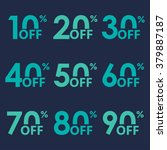sale icon set. discount price... | Shutterstock .eps vector #379887187