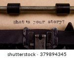 What S Your Story   Typed Word...