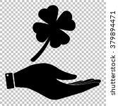 leaf clover sign. save or...
