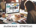 seo search engine optimization...   Shutterstock . vector #379895161