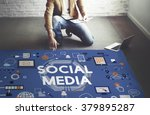 social media social networking... | Shutterstock . vector #379895287