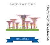 gardens by the bay in singapore.... | Shutterstock .eps vector #379896469