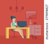freelancer home office... | Shutterstock .eps vector #379898827