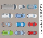 top view road transport vehicle ... | Shutterstock .eps vector #379899199