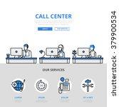 call center user support office ... | Shutterstock .eps vector #379900534